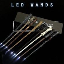 19 türlü sihirli değnek Cosplay Sirius Hermione Dumbledore Luna Harrid sihirli ışık değnek yüksek kaliteli hediye kutusu ambalaj ile