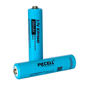 Image 3 - 5 xPKCELL Button Top AAA ICR10440 Liion Lithium Rechargeable Battery 3.7v 10440 For headlamp mechanical mod  torch headlight vap