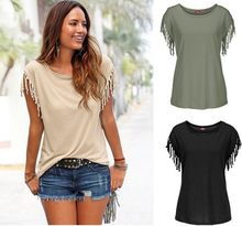 Big Plus Size Womens Female Fashion Casual Loose Short Sleeve T shirts tops Shirts Blouse(China)