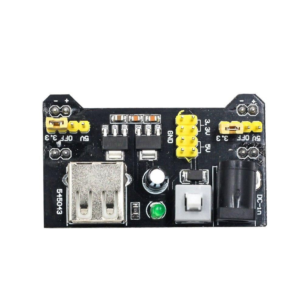 Breadboard Power Supply Module Mb-102 Power Supply Board Dual-Way 5V3.3V Output Dc Regulating Module Supply Board