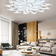 Black Chandelier Lighting-Fixture Sala Bedroom Led Modern-Decor by IRALAN