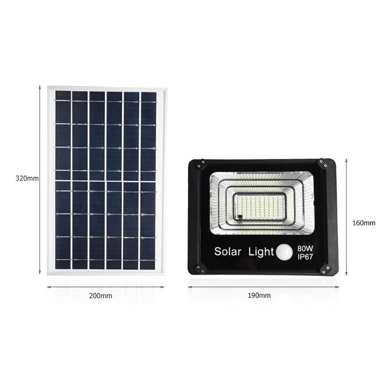 projector de parede energia solar alimentado à