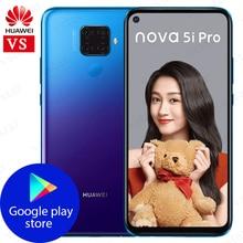 Original Huawei Nova 5i Pro mobile phone 6.26 8GB 128GB Kirin 810 Octa Core Fingerprint unlock 48MP Quad Camera GPU Turbo