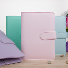 Pink Mint Pure Color PU Leather Spiral Journal Cover A5 Suit For Standard A5 Coil Paper Sheets