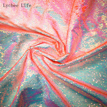 Lychee Life 20x30cm Reversible Sequin Fabric High Quality Shiny Fabric DIY Sewing Supplies