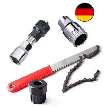 Herramientas de bicicleta 4 en 1 Pedal de accionamiento soporte inferior manivela sprocket Extractor de casete|Herramientas de reparación de bicicleta|   -