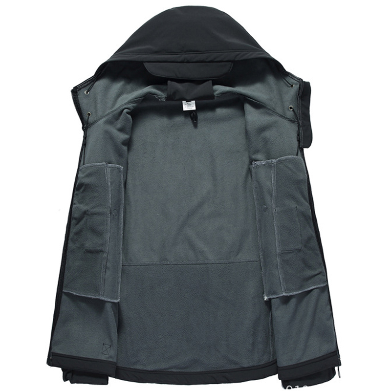 Army Shark Skin Soft Shell Clothes Tactical Windproof Waterproof jacket men Flight Pilot Hood Coat Military Field bomber Jacket