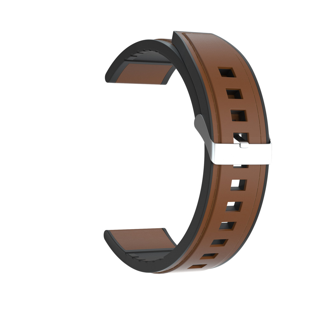 Strap Watchband 22mm Wristband For Huawei Watch GT GT2 42mm 46mm Silicone +Leather Wriststrap For Samsung Galaxy Watch 46mm