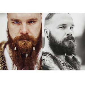Image 4 - 24pcs In Acciaio Inox Viking Rune Perline per Capelli Barba di Grandi Dimensioni del Foro 6mm 8mm Anziano Futhark Braccialetto Dei Monili che fanno Forniture FAI DA TE