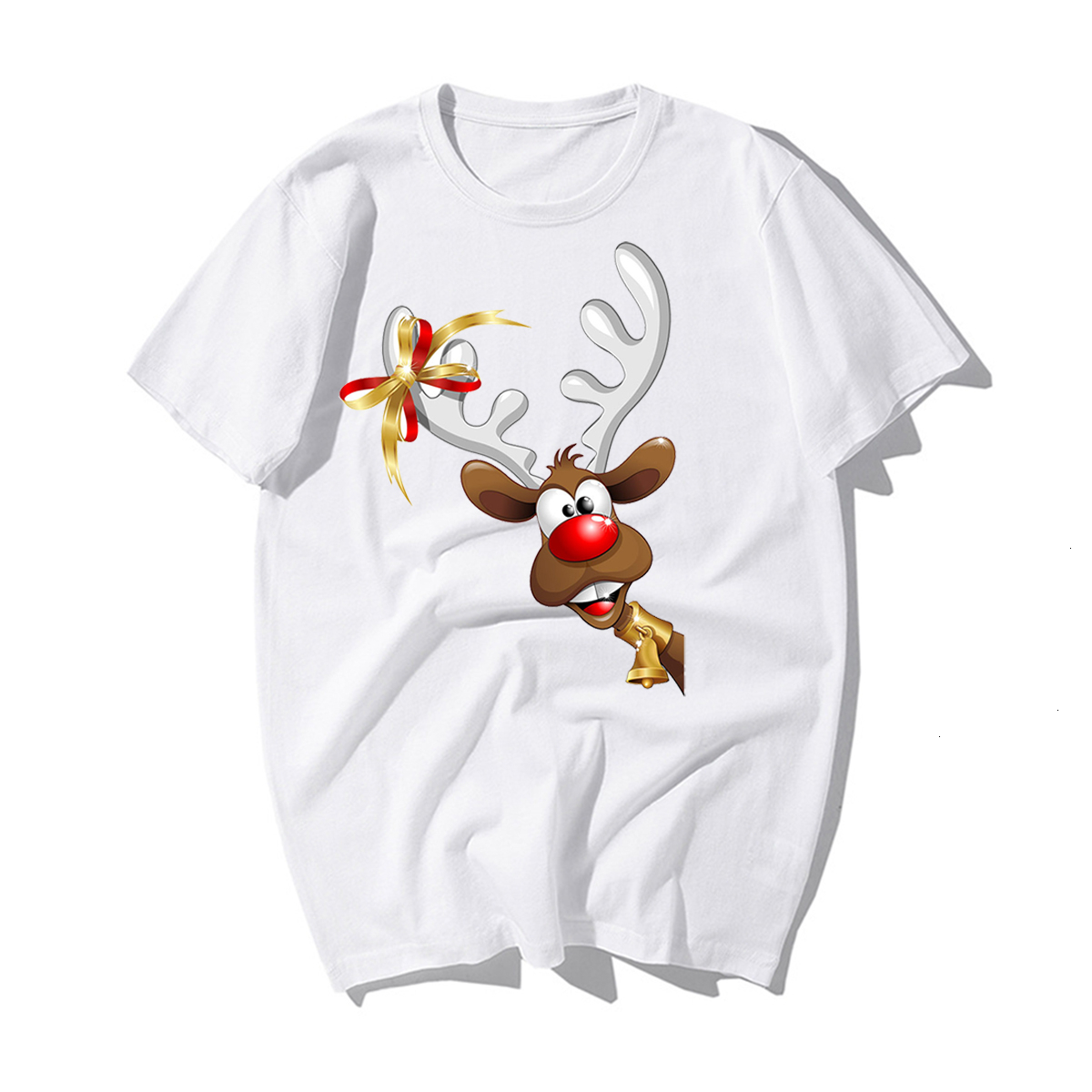 Funny Santa Claus Reindeer Lover CHRISTMAS GIFT T-SHIRT Happy New Year T Shirt Man Tshirt Merry CHRISTMAS Casual Cotton Kawaii 9