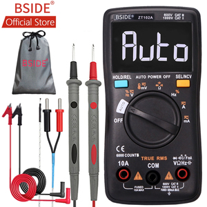 BSIDE ZT102A EBTN LCD Digital Multimeter TRMS AC/DC Voltage Current Temp Ohm Frequency Diode Resistance Capacitance Tester(China)