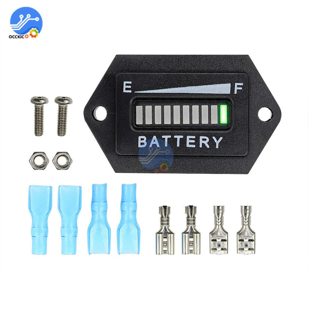 BMS 12V 24V Battery Capacity Indicator LED Display Power Bank Charging Level Tester Meter  for RV Motorcycle Car title=
