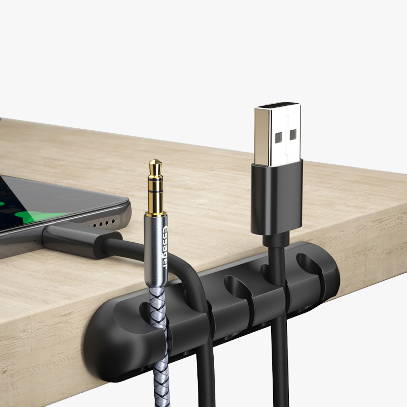 Essager <font><b>Cable</b></font> <font><b>Organizer</b></font> USB <font><b>Cable</b></font> Wire Holder Mouse Headphone Earphone Charger Cord Protector Desk Winder Clip <font><b>Cable</b></font> TSLM1 image