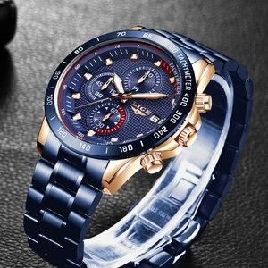 Image 4 - ผู้ชายที่ดีที่สุดของขวัญ LIGE แฟชั่นธุรกิจชายนาฬิกาแบรนด์หรูนาฬิกาสแตนเลสชายนาฬิกาควอตซ์ Relogio masculino