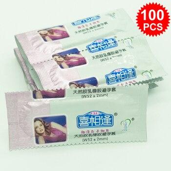 100 unids/lote condón de látex Natural condones de aceite grande para hombres fruta funda para pene anillo herramienta sexual productos sexuales para adultos juguetes sexuales