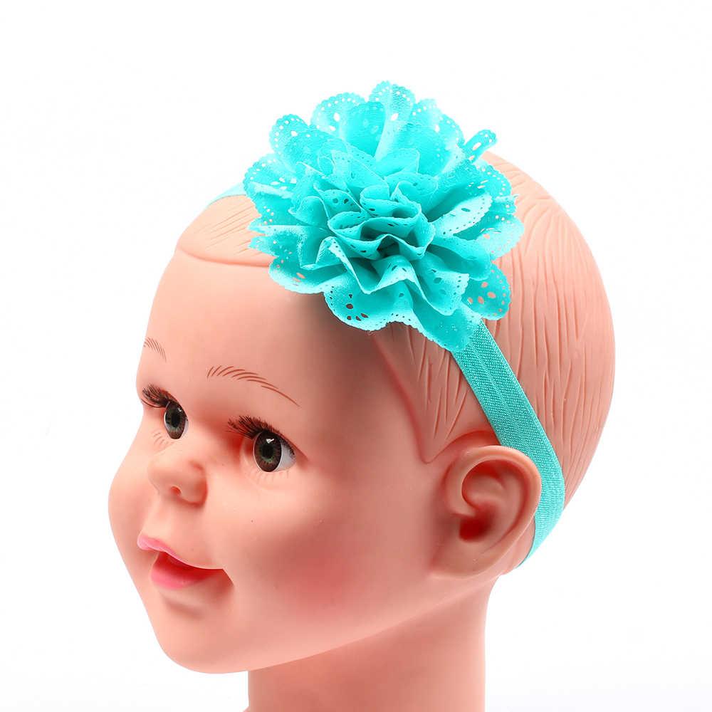 תינוקת אביזרי שיער להקת בגדים פרח יילוד פרחוני כובעי כיסוי ראש גומייה לשיער לילדים פעוט