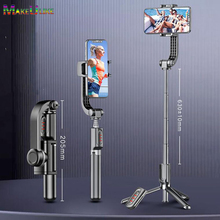 Foldable Single Axis Gimbal Mobile Phone Stabilizer Anti-Shake Tripod Bluetooth Remote
