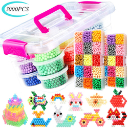 3000PCS Creative Multicolor Magic DIY Puzzle Beads Toys Water Spray Sticky Bead Set Handmade Educational Toys Gifts For Children