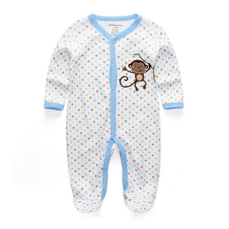 Детские комбинезоны унисекс для детей от 0 до 12 месяцев, 2020 г., пижамы комплект одежды для новорожденных, одежда для маленьких девочек одежда для маленьких мальчиков Roupa de bebe с круглым вырезом