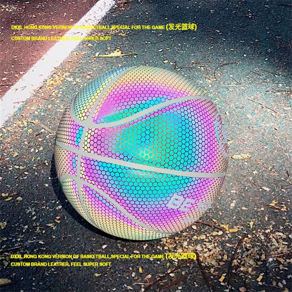 Brilho de Basquete Jogo da Noite Holográfica Reflexiva Luminosa Fluorescente Iluminado Basquete Brilhante Não. 7