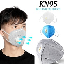 10/20/50/100pcs KN95 Mouth Mask Dustproof Protection Mouth Mask PM2.5 Face Mask With Breathing Valve Respirator Face Mask|Masks| |  - AliExpress