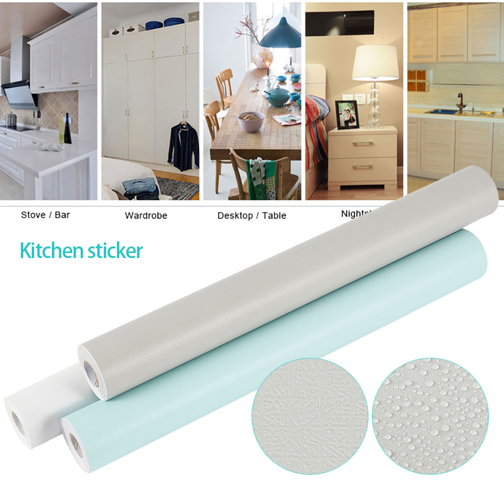 10M/Roll Self Adhesive Wall Paper Waterproof PVC Roll Furniture Decorative Wall Stickers For Kitchen Backsplash Home Decor
