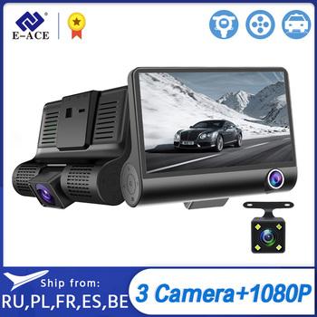 E-ACE B28 wideorejestrator samochodowy 4 Cal kamera na deskę rozdzielczą era 3 kamery obiektyw z kamera cofania wideorejestrator Auto rejestrator kamera na deskę rozdzielczą podwójny obiektyw rejestratorów tanie i dobre opinie Other Przenośny rejestrator Klasa 10 Connect With Charger Work 170 ° Samochód dvr 1920x1080 NONE G-sensor Zoom cyfrowy