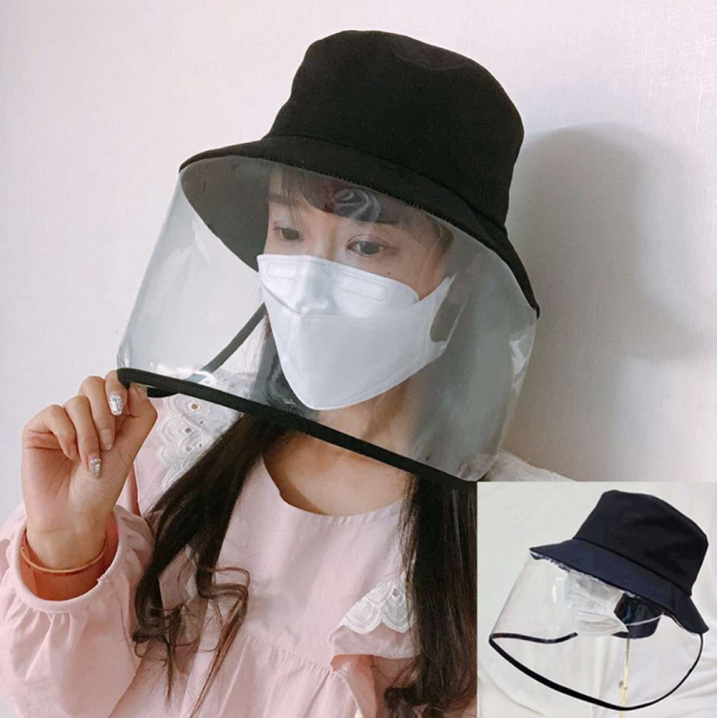 Anti-spitting Protective Hat Cover Adjustable Outdoor Fisherman Hat Effectively isolates saliva carrying viruses In stock*(China)