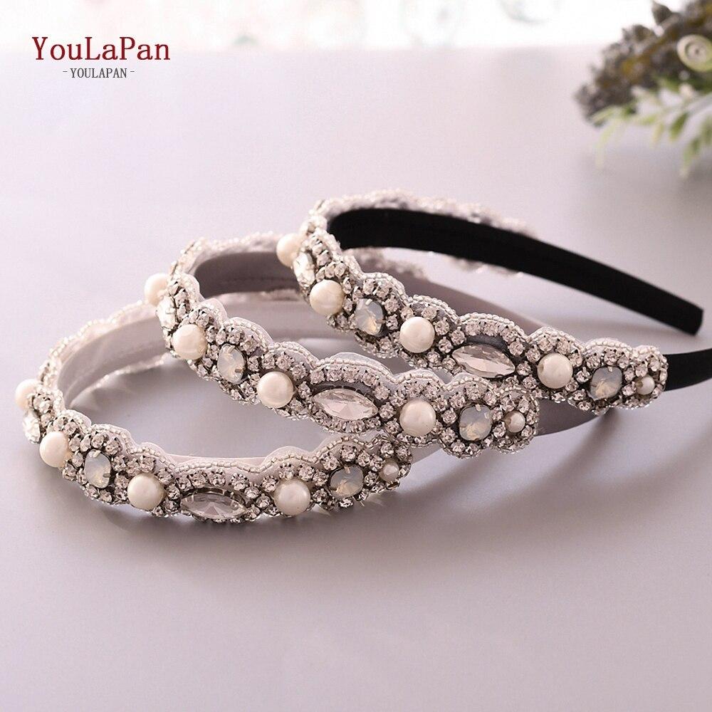 YouLaPan S274-FG Fashion Luxury Sparkly Rhinestone Headband Bridal Stone Hairband  Women Hair Accessories Baroque Hair Band