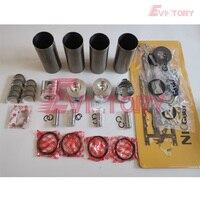 For Yanmar 4TNE88 4D88E engine rebuild kit piston + ring cylinder liner gasket kt bearing