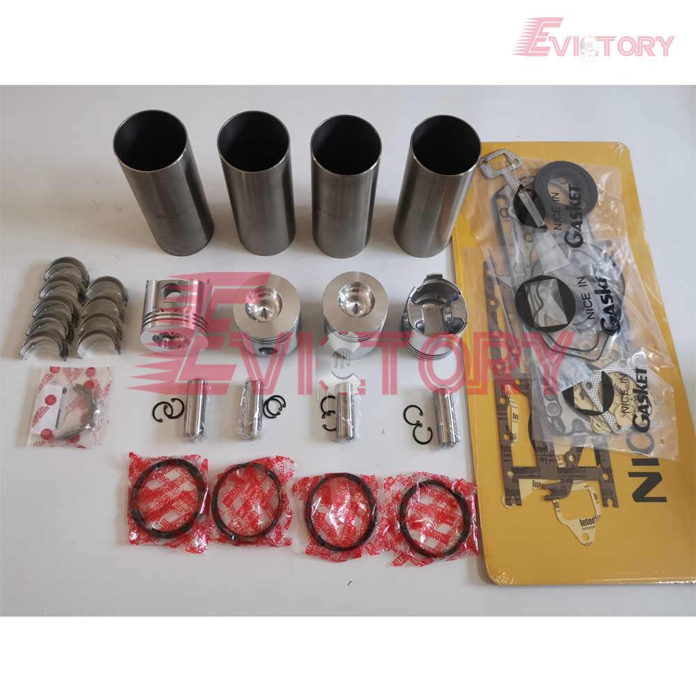 Для Yanmar 4TNE88 4D88E Ремонтный комплект двигателя поршень + кольцо гильзы цилиндра