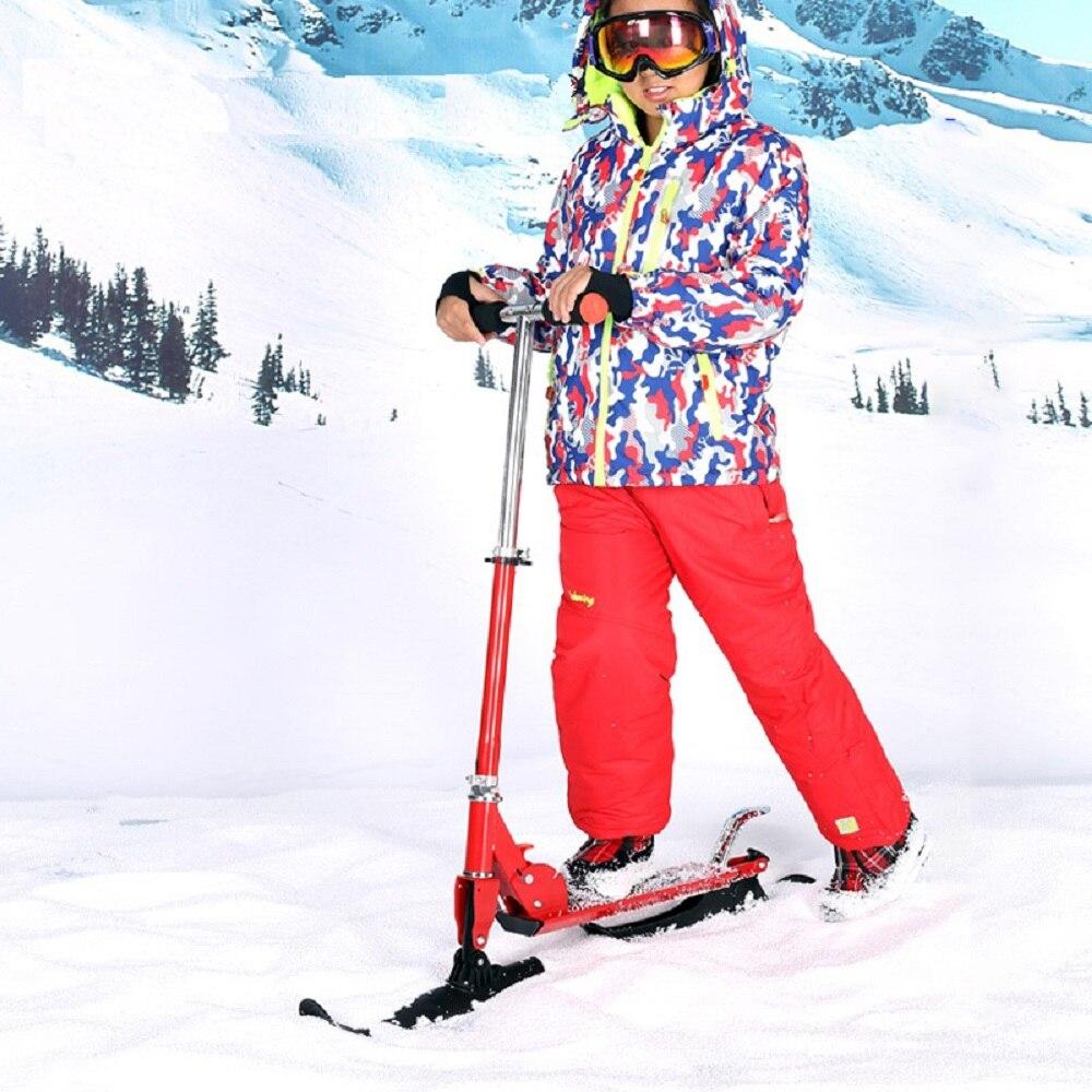 Adultes plier planche à roulettes de neige nouveau multi-fonctionnel pliable luge neige ski planche Skibob planche à roulettes en plein air sport JSGM-06