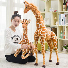 Toy Plush-Doll Simulation Animal-Model Soft-Pillow Stuffed Giraffe Baby Large Kids Children