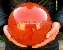free shipping NATURAL RED jasper quartz crystal sphere ball healing(China)