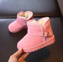 Buy New Arrival 2019 Warm Winter Shoes For Girls Plush Toddler Boy Boots Kids Baby Snow Boots Children Shoes 1#15/15D50 directly from merchant!