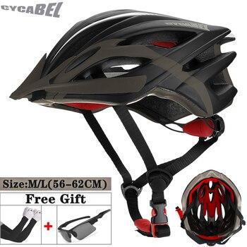 Cycabel ultraleve ciclismo capacete da bicicleta de titânio preto capacete in-mold mountain road bicicleta mtb capacete seguro das mulheres dos homens 1