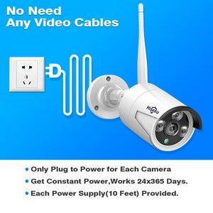 Image 5 - Hiseeu 8CH sistema di telecamere a circuito chiuso Wireless 6pcs 1080P wifi telecamera IP sistema di videosorveglianza per la sicurezza domestica esterna kit NVR