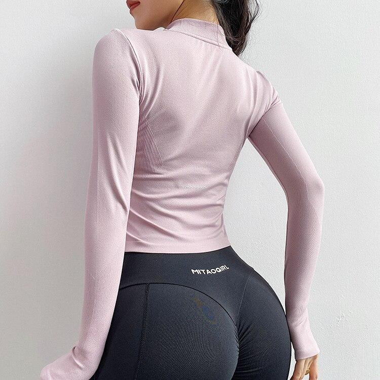 de yoga ginásio roupas esportivas correndo camiseta de manga longa