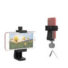 360 graus de rotação do suporte do telefone móvel, horizontal e vertical tiro ajustável e-dado forma clipe