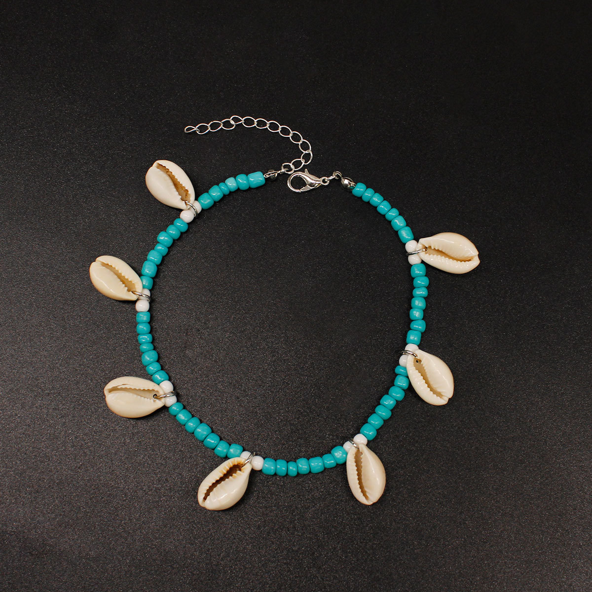 Natural Shell Anklet Beach Hand-Woven Rice Beads Foot Chain Women Fashion Jewelry Summer Beach Leg Chain