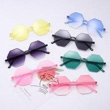 2pcs/lot factory Wholesale child glasses hexagon Shape Plastic Kids Sunglasses 3