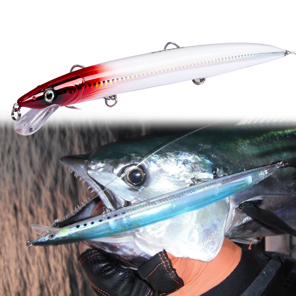 Hunthouse savage gear jerk floating minnow 143/173/208mm 14/23/33g sandeel fishing lure wobblers minnow for fishing sea bass