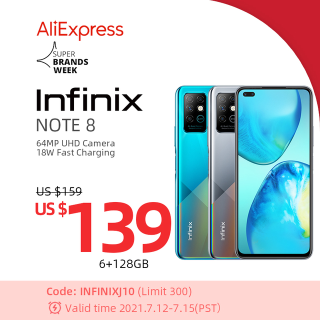 Global Version Infinix Note 8 Smart Phone 6GB RAM 128GB ROM 6.95 Inch HD+ Display 5200mAh 18W Fast Charge Mobile X692-K 1