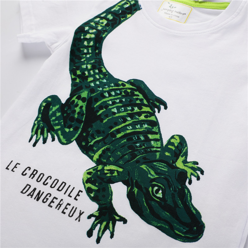 Jumping meters Animals Summer Boys Girls T shirts Crabs Printed Cotton Baby Clothes Tees Boys s