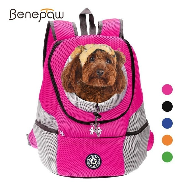 Benepaw Comfortable Small Dog Backpack Travel Breathable Mesh Puppy Dog Carrier Bag Durable Padded Shoulder Pet Cat Carrier 2019 1