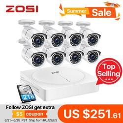 ZOSI 8CH HD 5,0 MP H.265 + Sicherheit Kamera System mit 8x5 MEGAPIXEL 2560*1920 Outdoor/indoor CCTV Überwachung Kamera 2TB Festplatte