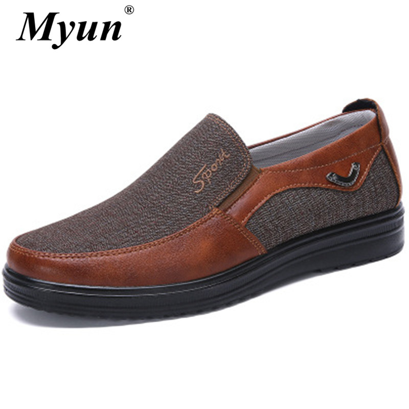 Casual-Shoes Flat-Loafers Spring Comfortable Mens High-Quality Size Autumn Fashion 38-50