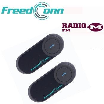 2pcs FreedConn T-COM VB Motorcycle Helmet Intercom Wireless Bluetooth Interphone FM Radio 800m 2 Riders