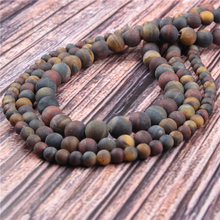 Hot?Sale?Natural?Stone?Three Color Tiger15.5?Pick?Size?4/6/8/10/12mm?fit?Diy?Charms?Beads?Jewelry?Making?Accessories