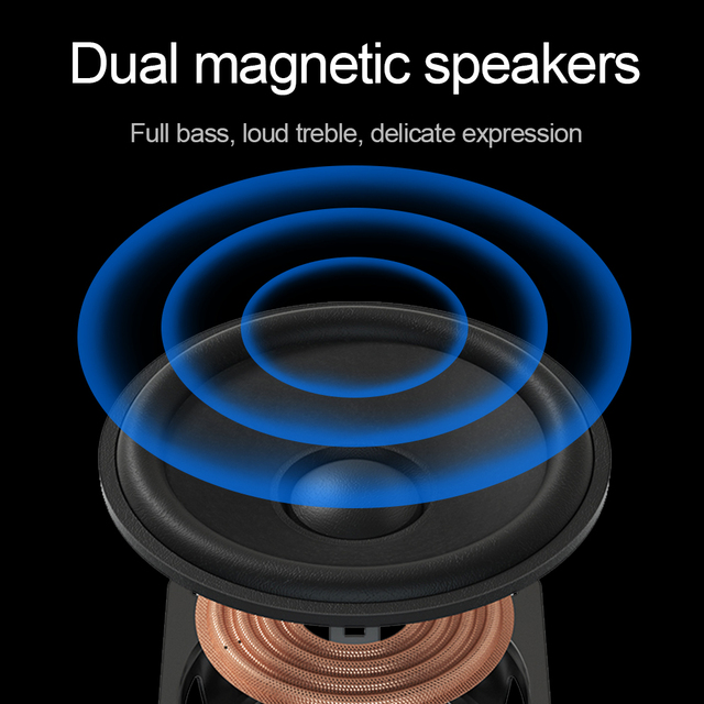 Redragon aux 3.5mm stereo surround music smart RGB speakers sound sound bar for computer 2.0 PC home notebook TV loudspeakers 6